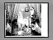 view [Mother and child and Santa Claus in home bedroom.] 6884 interpositive digital asset: [Mother and child and Santa Claus in home bedroom.] 6884 interpositive.