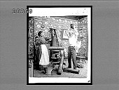 view [Family quarrel at home, with stove.] 7027 interpositive digital asset: [Family quarrel at home, with stove.] 7027 interpositive.