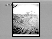 view Shaft houses and machine shops above the richest copper mines on earth, Calumet, Mich. 7971 interpositive digital asset: Shaft houses and machine shops above the richest copper mines on earth, Calumet, Mich. 7971 interpositive.