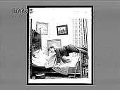 view [Tipsy man in home bedroom.] 8872 interpositive digital asset: [Tipsy man in home bedroom.] 8872 interpositive.