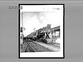 view [Flag-bedecked train engine.] 8955 interpositive digital asset: [Flag-bedecked train engine.] 8955 interpositive.