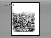 view [Crowded rustic boats on river and market area.] 9153 interpositive digital asset: [Crowded rustic boats on river and market area.] 9153 interpositive.