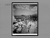 view From W. wall of Parthenon over modern city, E.N.E., to Lykabettos and Pentelikon. 9285 Interpositive digital asset: From W. wall of Parthenon over modern city, E.N.E., to Lykabettos and Pentelikon. 9285 Interpositive.