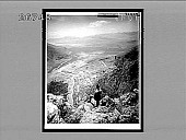 view Looking from mountain heights, over Delphi and W. across Sacred Plain to distant sea. 9349 Interpositive digital asset: Looking from mountain heights, over Delphi and W. across Sacred Plain to distant sea. 9349 Interpositive 1905