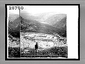 view Apollo's temple (6th cent. B.C.) built over chasm of the Oracle--E. from above theatre, Delphi. 9350 Interpositive digital asset: Apollo's temple (6th cent. B.C.) built over chasm of the Oracle--E. from above theatre, Delphi. 9350 Interpositive 1905.