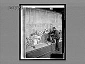 view Making Gobelins tapestry--(weavers behind loom see results in mirrors), Paris. 9574 Interpositive digital asset: Making Gobelins tapestry--(weavers behind loom see results in mirrors), Paris. 9574 Interpositive.