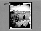 view Crater Lake, a jewel marking an old volcano, Eagle Crags, N.W. to Glacier Park. 10057 interpositive digital asset: Crater Lake, a jewel marking an old volcano, Eagle Crags, N.W. to Glacier Park. 10057 interpositive.