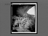 view Cliff Palace (S.S.E.), largest of prehistoric homes in Mesa Verde National Park. [Active no. 10653 : non-stereo interpositive.] digital asset: Cliff Palace (S.S.E.), largest of prehistoric homes in Mesa Verde National Park. [Active no. 10653 : non-stereo interpositive.]