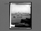 view Towering temples of trade crowding lower Manhattan, N. from N.Y. Harbor. 10708 interpositive digital asset: Towering temples of trade crowding lower Manhattan, N. from N.Y. Harbor. 10708 interpositive 1910.