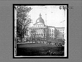 view The State House crowning historic Beacon Hill, W. from the old Common, Boston. 10740 interpositive digital asset: The State House crowning historic Beacon Hill, W. from the old Common, Boston. 10740 interpositive.