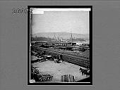 view [Train in dock area.] 11102 interpositive digital asset: [Train in dock area.] 11102 interpositive.