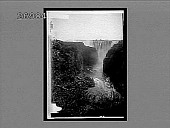 view Great Victoria Falls and Gorge (W.), Zambesi River. 11124 interpositive digital asset: Great Victoria Falls and Gorge (W.), Zambesi River. 11124 interpositive.