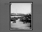 view Down Potomac river from Washington, Washington Monument at left. 11145 interpositive digital asset: Down Potomac river from Washington, Washington Monument at left. 11145 interpositive.