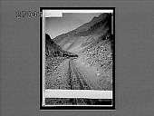 view Cog railway, climbing through a great cut in the Andes, Argentine. 11205 Interpositive digital asset: Cog railway, climbing through a great cut in the Andes, Argentine. 11205 Interpositive.