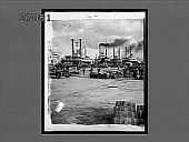 view Busy ship-crowded wharves on the Mississippi, New Orleans. [Active no. 11212 : non-stereo interpositive.] digital asset: Busy ship-crowded wharves on the Mississippi, New Orleans. [Active no. 11212 : non-stereo interpositive.]
