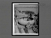 """view Building the pecular round boats called """"kufas,"""" on the Tigris River, at Bagdad. 11486 interpositive digital asset: Building the pecular round boats called """"kufas,"""" on the Tigris River, at Bagdad. 11486 interpositive."""
