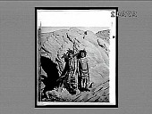 view [Two American Indians pose in rugged terrain.] 23302 Interpositive digital asset: [Two American Indians pose in rugged terrain.] 23302 Interpositive 1901.
