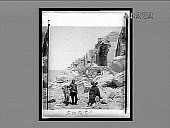 view [American Indians on trail in rugged terrain.] 23305 Interpositive digital asset: [American Indians on trail in rugged terrain.] 23305 Interpositive 1901.