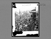 view [Theodore Roosevelt addressing crowd from rear car of train.] 23464 interpositive digital asset: [Theodore Roosevelt addressing crowd from rear car of train.] 23464 interpositive 1903.