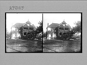 view [Exterior of large home.] photonegative digital asset: [Exterior of large home.] photonegative.