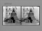 "view The ""King of Bells,"" weighing 200 tons, Kremlin Arsenal, Moscow. photonegative digital asset: The ""King of Bells,"" weighing 200 tons, Kremlin Arsenal, Moscow. photonegative 1910"