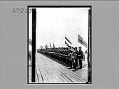 view The Russian Imperial Guard awaiting the German Emperor, Peterhof Pier. [Active no. 1081 : photonegative,] 1897 digital asset number 1