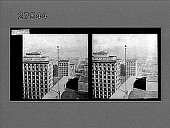 view [Tall city buildings from high angle. Active no. 12340 : stereo photonegative.] digital asset number 1