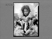 view Eskimo Alaska woman with {dollar}1000 coat [on envelope]. [Photonegative.] digital asset: Eskimo Alaska woman with {dollar}1000 coat [on envelope]. [Photonegative.]