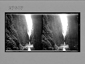 view Oneonta Gorge, Columbia River, Oregon. Active no. 12506 : stereo photonegative digital asset: Oneonta Gorge, Columbia River, Oregon. Active no. 12506 : stereo photonegative.