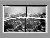 """view From Ferris Wheel S.E. over Japanese garden and """"Jerusalem"""" to Festival Hall. [Active no. 5838 : stereo interpositive,] digital asset: From Ferris Wheel S.E. over Japanese garden and """"Jerusalem"""" to Festival Hall. [Active no. 5838 : stereo interpositive,] 1904."""