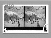 view An Arctic village--Eskimos among their topeks (tents) with a snow igloo at right. [Active no. 5855 : stereo interpositive,] digital asset: An Arctic village--Eskimos among their topeks (tents) with a snow igloo at right. [Active no. 5855 : stereo interpositive,] 1903.