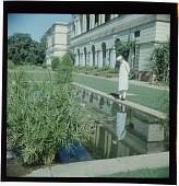 view [Jawaharlal Nehru looking into a garden pool in New Delhi, India: color slide (chromogenic phototransparency)] digital asset: [Jawaharlal Nehru looking into a garden pool in New Delhi, India: color slide (chromogenic phototransparency)].