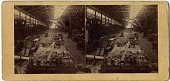 view [Philadelphia & Reading Railroad locomotive shop: b & w stereo photoprint] digital asset: [Philadelphia & Reading Railroad locomotive shop: b & w stereo photoprint].