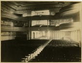view [Interior view of Steinway Hall seats and balconies from the stage : black & white photoprint.] digital asset: [Interior view of Steinway Hall seats and balconies from the stage : black & white photoprint.]
