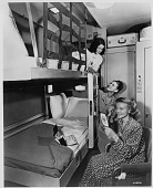 view [Pullman car sleeping compartment : photoprint] digital asset: [Pullman car sleeping compartment : photoprint, ca. 1935.]