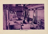 """view Private car """"Grassmere."""" [interior view: [lithograph] digital asset: Private car """"Grassmere."""" [interior view: [lithograph]"""
