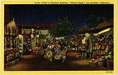 "view Street of Mexican Bazaars, ""Olvera Street,"" Los Angeles, California [picture postcard] digital asset: Street of Mexican Bazaars, ""Olvera Street,"" Los Angeles, California [picture postcard]."