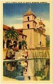 view Fiesta Days at Santa Barbara Mission [picture postcard.] digital asset: Fiesta Days at Santa Barbara Mission [picture postcard.]