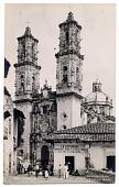 view Osuna / Parroquia de / Taxco-Gro. [black-and-white postcard] digital asset: Osuna / Parroquia de / Taxco-Gro. [black-and-white postcard].