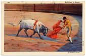 view Bull Fight in Mexico [color postcard] digital asset: Bull Fight in Mexico [color postcard, undated].