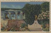 view Campanario and Statue of Father Serra [picture postcard] digital asset: Campanario and Statue of Father Serra [picture postcard].