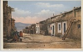 view Street Scene, Pueblo of Acoma, New Mexico [photomechanical postcard] digital asset: Street Scene, Pueblo of Acoma, New Mexico [photomechanical postcard].