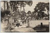 view Playing shuffleboard, trailer park, Sarasota, Florida. [picture postcard] digital asset: Playing shuffleboard, trailer park, Sarasota, Florida. [picture postcard].