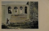 view Bells San Juan Capistrano Mission [picture postcard] digital asset: Bells San Juan Capistrano Mission [picture postcard, ca. 1920].