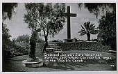 view Cross and Junipero Serra Monument : postcard.] digital asset: Cross and Junipero Serra Monument : postcard.]