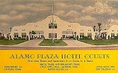 view [Alamo Plaza Hotel Courts : picture postcard.] digital asset: [Alamo Plaza Hotel Courts : picture postcard.]