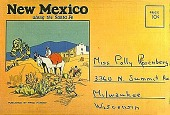 view New Mexico--along the Santa Fe [postcard booklet] digital asset: New Mexico--along the Santa Fe [postcard booklet].