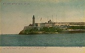 view Visit El Morro castle, Havana [postcard] digital asset: Visit El Morro castle, Havana [postcard].