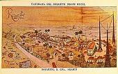 view Panorama del Rosarito Beach Hotel [picture postcard] digital asset: Panorama del Rosarito Beach Hotel [picture postcard].