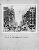 view Early street scene in New York City before telegraph wires were laid underground. Maze of wires is in the vicinity of Old Western Union Headquarters, 195 Broadway. [illustration.] digital asset: Early street scene in New York City before telegraph wires were laid underground. Maze of wires is in the vicinity of Old Western Union Headquarters, 195 Broadway. [illustration.]